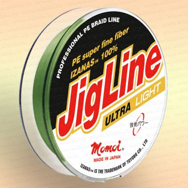 Шнур JigLine Ultra Light 0,09 мм, 7,0 кг, 100 м, желтая