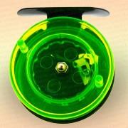 Катушка для зимней удочки зеленая, диаметр 65 мм