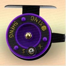 Катушка Xing Sheng 50 мм для зимней удочки фиолетовая