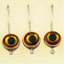Мормышка металлическая, паяная № 29-ПЛ, крючок 8, желто-красная