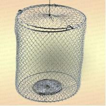 Кормушка 3 л, металлическая сетка, оцинкованная, огруженная (h=23 см, d=170 мм)