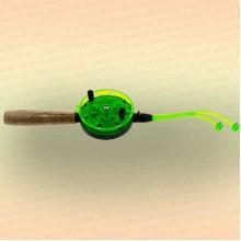 Удочка зимняя Bazizfish, катушка 92 мм, длина 41 мм с двойным шестиком