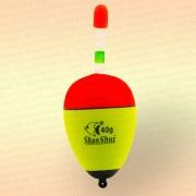 Поплавок ShanShui скользящий желтый с красным, 40 гр