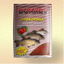 "Прикормка ""DUNAEV КЛАССИКА"" 0,9 кг, Карп-Клубника"
