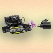 """Фонарь налобный """"Сибирский Следопыт-Радиант"""", 4 LED + 2 COB, аккум. 220В"""