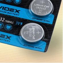 Батарейка литиевая CR2032, 3v, 225 мАч, диам.20 мм, выс.3,2 мм