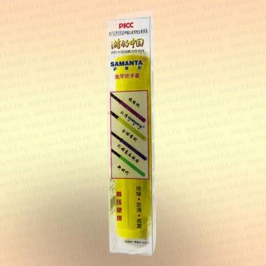 Силиконовая противоскользящая накладка на ручку удилища, спиннинга, подводного ружья цвет - желтый