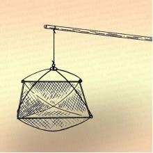 Шест для подъемника рыболовного, длина 4,5 м, дюралюминий