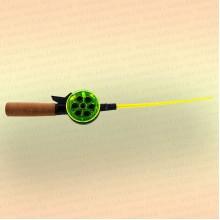 Удочка зимняя BF деревянная ручка, катушка 55 мм, длина 350 мм