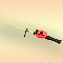Удочка зимняя 3КИТА Профи УП-3 с пластмассовой ручкой оранжевая