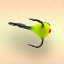 Тройник для зимней рыбалки № 16 с жёлтой каплей