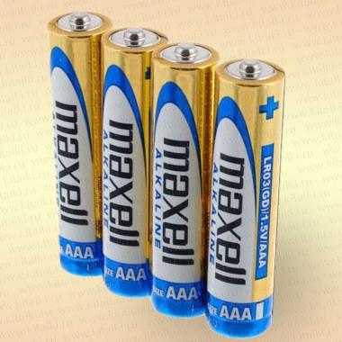 Батарейка щелочная AAА LR03 1,5 V упак- 4 шт.