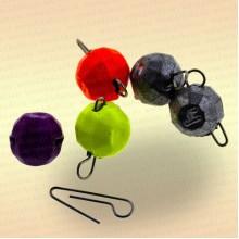 Груз Fanatik разборный граненый, цвет MIX, 3 гр (5шт)