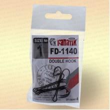 Крючки FANATIK FD-1140 Двойник №1 (4 шт)
