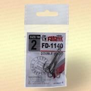 Крючки FANATIK FD-1140 Двойник №2 (4 шт)