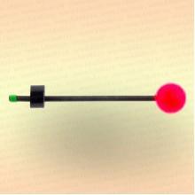 "Сторожок ""Мормыш - Шар с пружинкой"" жесткость №2, шарик 20 мм, вес приманки: 9,0-18,0 гр"