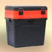 Зимний рыболовный ящик 3 Кита, черно-оранжевый