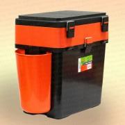 Зимний рыболовный ящик Helios Fishbox 19 л. двухсекционный
