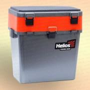 Зимний рыболовный ящик Helios Ice Fishbox 19 л двухсекционный серый
