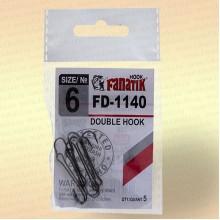Крючки FANATIK FD-1140 Двойник №6 (5 шт)
