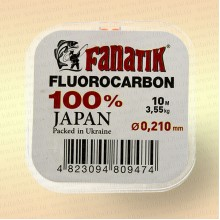 Флюорокарбон Fanatik 10 м, 0,210 мм, тест 3,55 кг fluorocarbon japan