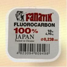 Флюорокарбон Fanatik 10 м, 0,238 мм, тест 4,90 кг fluorocarbon japan