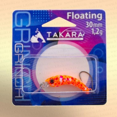 Воблер форелевый Takara Grinch 30 мм, 1,2 гр, цвет 712