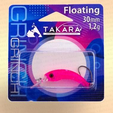 Воблер форелевый Takara Grinch 30 мм, 1,2 гр, цвет 711