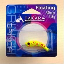Воблер форелевый Takara Grinch 30 мм, 1,2 гр, цвет 708