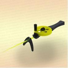 Удочка зимняя 3КИТА Профи УП-3 с пластмассовой ручкой желтая