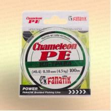 Шнур FANATIK Chameleon PE X4 100 м 0,10 мм, 4,5 кг. ИЛ-ТРАВА темн.-зел.