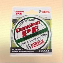 Шнур FANATIK Chameleon PE X4 100 м 0,12 мм, 5,4 кг. ИЛ-ТРАВА темн.-зел.
