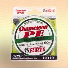 Шнур FANATIK Chameleon PE X4 100 м 0,14 мм, 6,8 кг. ИЛ-ТРАВА темн.-зел.