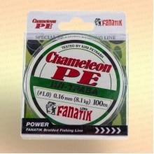 Шнур FANATIK Chameleon PE X4 100 м 0,16 мм, 8,1 кг. ИЛ-ТРАВА темн.-зел.