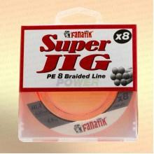 Шнур FANATIK Super Jig PE X8 120 м. 0,10 мм, 4,8 кг. Оранжевая