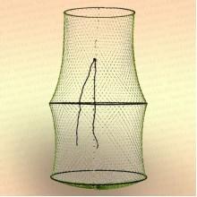Садок 3 кольца, диаметр 400 мм, длина 700 мм, вход 300 мм