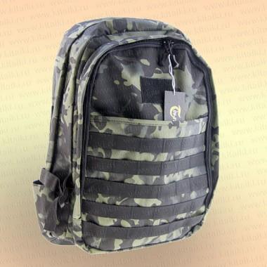 Рюкзак 50 л зеленый КМФ, 2 отделения + карманы
