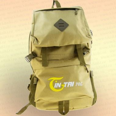 Рюкзак 70 л бежевый, 1 отделение + карманы