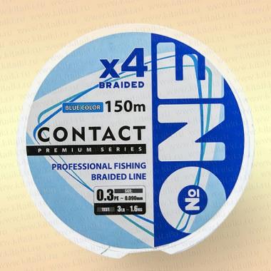 Плетеный шнур Number ONE CONTACT 0,090 мм 150 м (голубая)