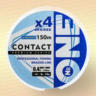Плетеный шнур Number ONE CONTACT 0,104 мм 150 м (голубая)