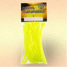 Кембрик 3х4 мм, флуоресцентный желтый, 10 см, уп 20 шт