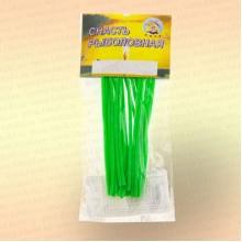 Кембрик 1,5х2,5 мм, флуоресцентный зеленый, 10 см, уп 20 шт