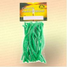 Кембрик 2х4 мм, флуоресцентный зеленый, 10 см, уп 20 шт