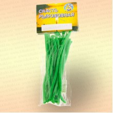 Кембрик 3х4 мм, флуоресцентный зеленый, 10 см, уп 20 шт