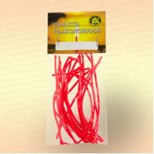 Кембрик 1,5х2,5 мм, флуоресцентный красный, 10 см, уп 20 шт
