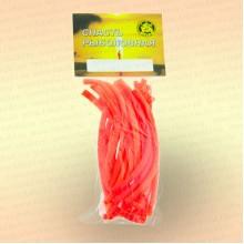 Кембрик 2х4 мм, флуоресцентный красный, 10 см, уп 20 шт