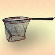 Подсачек рыболовный прорезиненный JinTai, короткая ручка
