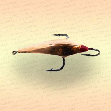 Блесна зимняя Mildas Ромбик номер 4, 3 крючка, вес 2,5 гр, цвет медь