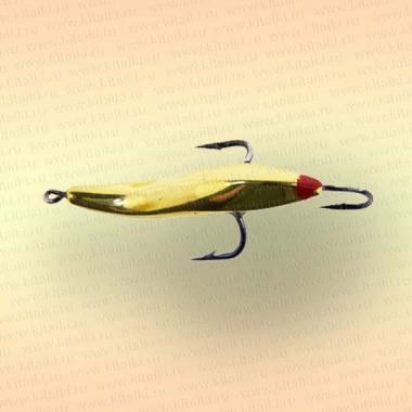 Блесна зимняя Mildas Окуневая номер 5, 3 крючка, вес 4 гр, цвет латунь