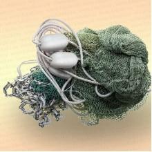 Бредень с цепью для раков длина  6 м, ячея 20 мм